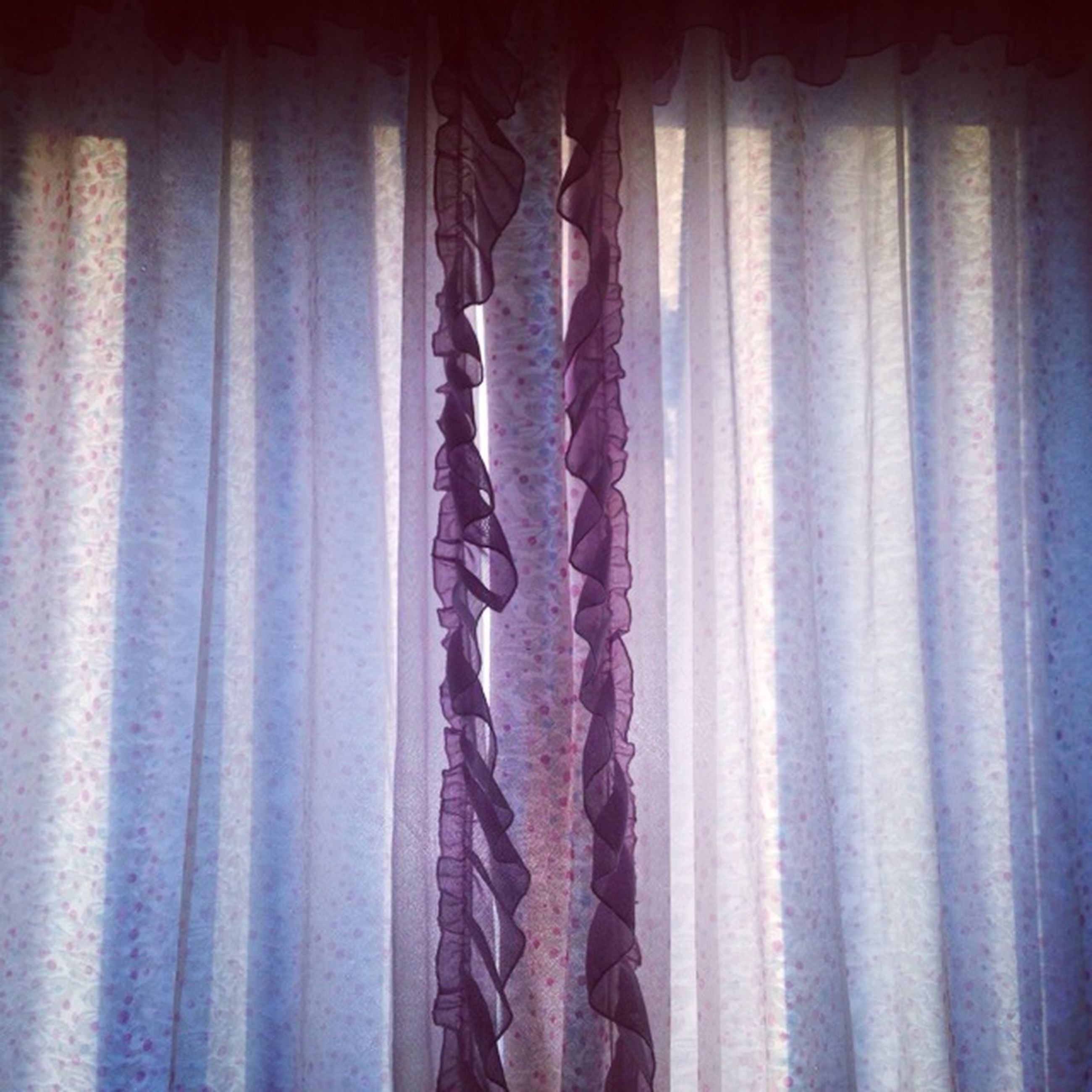 indoors, curtain, window, home interior, textile, fabric, house, hanging, wall - building feature, no people, close-up, sunlight, pattern, wall, day, architecture, domestic room, built structure, bed, absence