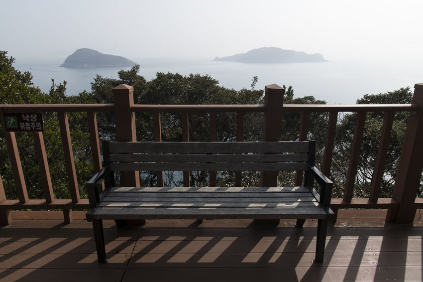sea observatory with bench and fence at Jangsado Island in Tongyeong, Gyeongnam, South Korea. Taken with Nikon d850 Beautiful Nature Bench Nature's Beauty Observatory South Korea Tongyeong Wooden Fence Beauty Of Nature Day Fence Island Jangsado No People Outdoor Outdoor Photography Outdoors Peace In Nature Peaceful Nature Sea Observatory Seascape Seaside Seaside_collection Wooden Bench