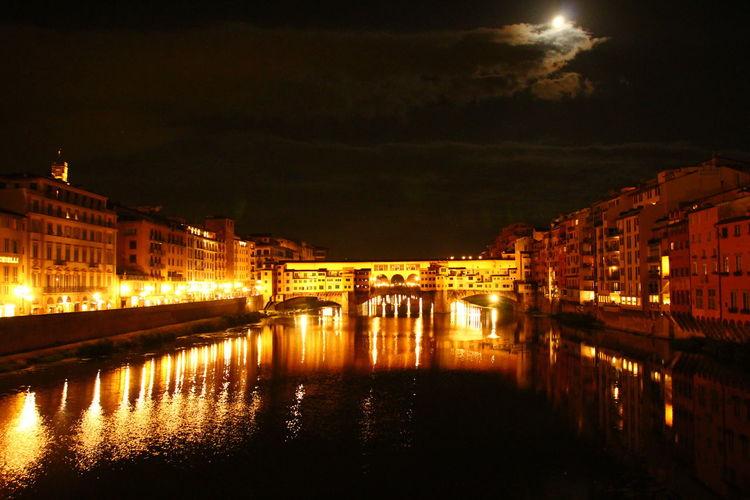 Tadaa Community Light And Shadow Picoftheday Night Nightphotography Ponte Vecchio Arno  Bridge - Man Made Structure Politics And Government Built Structure Lantern Urban Scene Urban Skyline