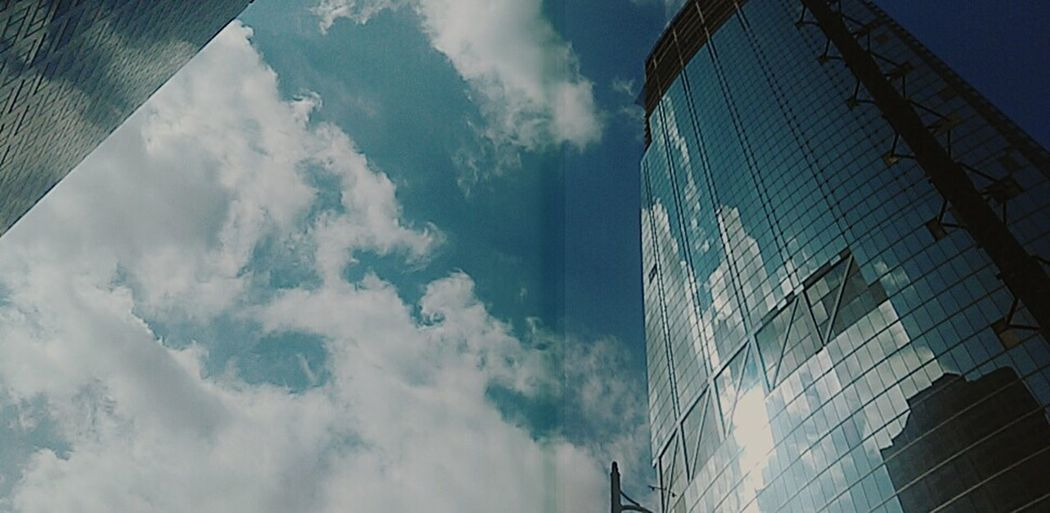 Los Angeles Downtown Clouds And Sky Up Close Street Photography
