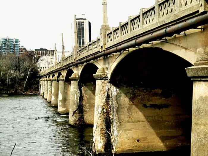 Richmond Virginia James River Train Crumbling Steadfast History