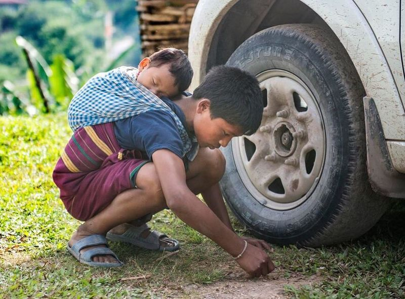 Big Brother Sibling Love Kids Being Kids Love ♥ I Got Your Back India Nap Time Play Time Arunachal Pradesh