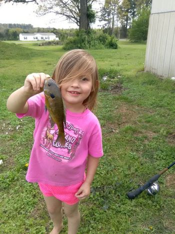Fishing with Daddy i caught the first one