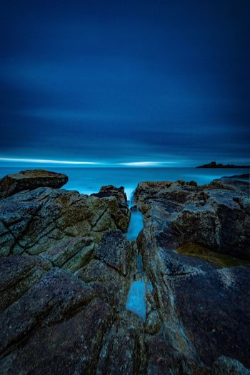 Rock Formation, Lesconil Bretagne Ocean Ocean View Long Exposure Rock Formation Water Beauty In Nature Scenics - Nature Sky Outdoors Solid Rock Blue Sea Nature No People