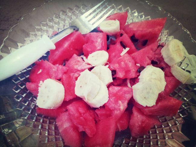 Watermelon Banana At Lunch