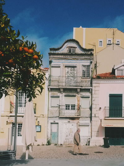 Apartment Architecture Building Building Exterior Built Structure City Day House Leisure Activity Lisbon Nature Portgual Residential District Sky Street Streetphotography Sunlight Tree