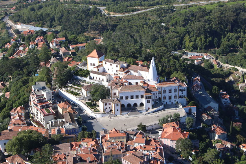 Architecture Building Exterior High Angle View Built Structure Tree Roof Outdoors No People Day Sintra Sintra Palace Palacio Nacional De Sintra Portugal Finding New Frontiers Adapted To The City