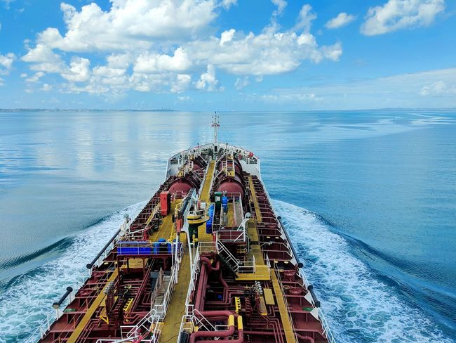 Nautical Theme Cargo Ship Life Onboard Waves Tanker Ship Beauty In Nature Water Sea Nautical Vessel Sky Horizon Over Water Cloud - Sky Calm Wake - Water Scenics Tranquil Scene Tranquility
