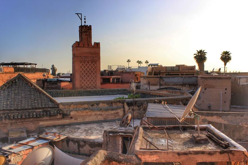 Medina rooftop Sky Architecture Building Exterior Built Structure Nature Clear Sky Water Day Sunlight No People Outdoors Building Sunset Industry Land Tree Construction Equipment City