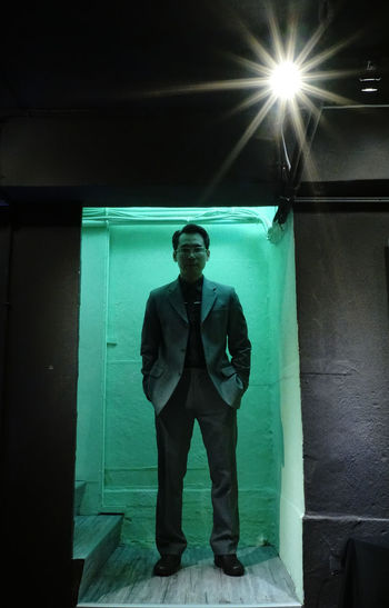 Time travel Front View One Man Only Only Men Standing Adult Portrait Night Illuminated Human Face Taiwan Taking Photos Memories Lifestyles Day City Life Colors Light And Shadow Lights Time To Reflect Timepass Time Travel EyeEm Ready   EyeEmNewHere Love Yourself