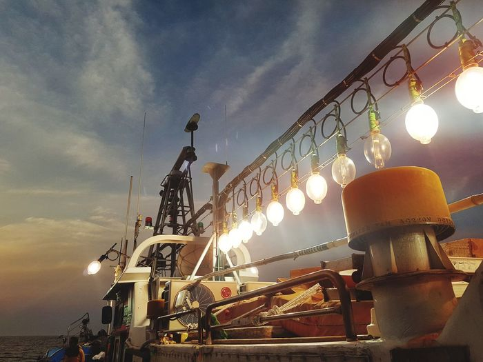 The outward voyage Night Fishing Landscape Korea Blue Sky Horizon Over Water Outdoors Beauty In Nature Sea Eyeemphotography Nautical Vessel Sailing Dramatic Sky
