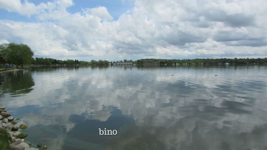 Taking Photos Afternòon Shoot Around The Lake Clouds And Sky Reflection Perfection  Lake Cadillac Pure Michigan