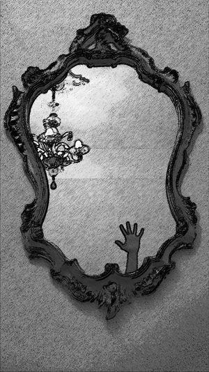 Where? Spiegel Spiegelfoto Spiegelung Sketch