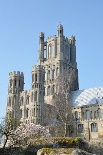 High Ely Cathedral Tower from south Architecture Building Exterior Built Structure Cambridgeshire Cathedral Ely Fenland Fens Gothic Norman Outdoors Religious