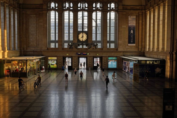Leipzig Hauptbahnhof, Mainstation Adult Architectural Column Architecture Building Built Structure Crowd Day Flooring Group Of People Indoors  Large Group Of People Lifestyles Men Museum Real People Tiled Floor Tourism Travel Travel Destinations Walking Women