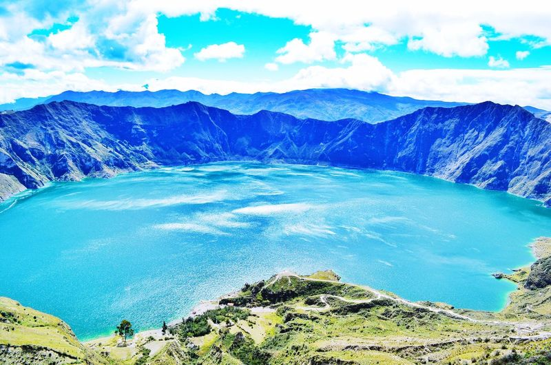 Quilotoa Quilotoa Ecuador Ecuador♥ Ecuador Nature Photography Creater Lake Creater  Volcano Travel Photography Travel Tourism
