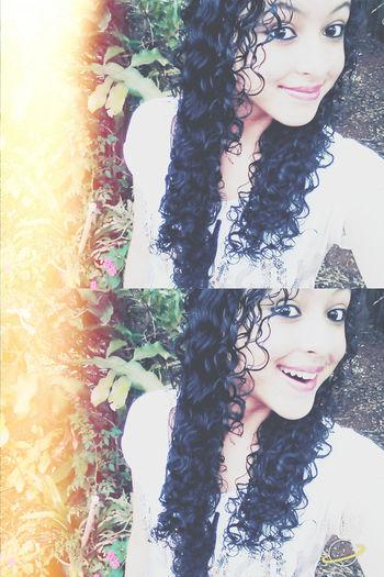 Smile Nice, Cute Hair ;curles Good Nigth