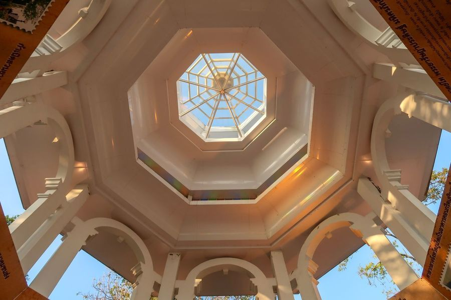 Low Angle View Architecture Built Structure Indoors  No People Illuminated Day Close-up