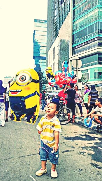My Boy ❤ Floating Balloon Authentic Moments Street Photography