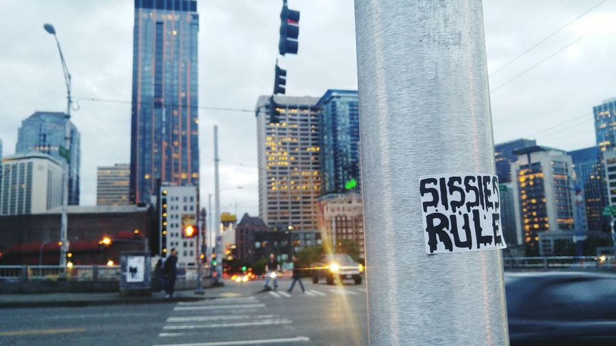 Sissies Rule Street Photography Seattle Urban Stickers