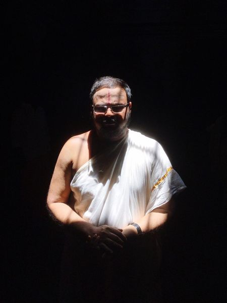 Hindu Monk on Dark Background.... Holy Divine Spirituality One Person Front View Portrait Indoors  Day Hindu Temple Hindu Gods&Goddesses Hindu Swamy Dark Photography
