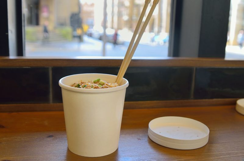 Chopsticks★★★ Chopsticks Close-up Cup Drink Focus On Foreground Food Food And Drink Freshness Glass Glass - Material Healthy Eating Indoors  No People Refreshment Restaurant Still Life Street Food Table Transparent Wellbeing Window Wood - Material