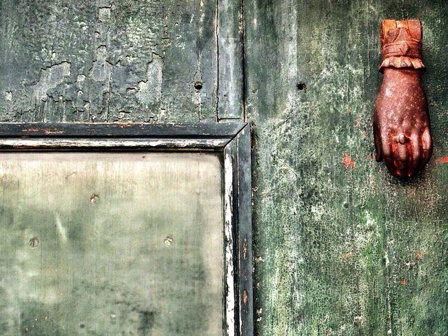 Rusty Door Doorbells Hand