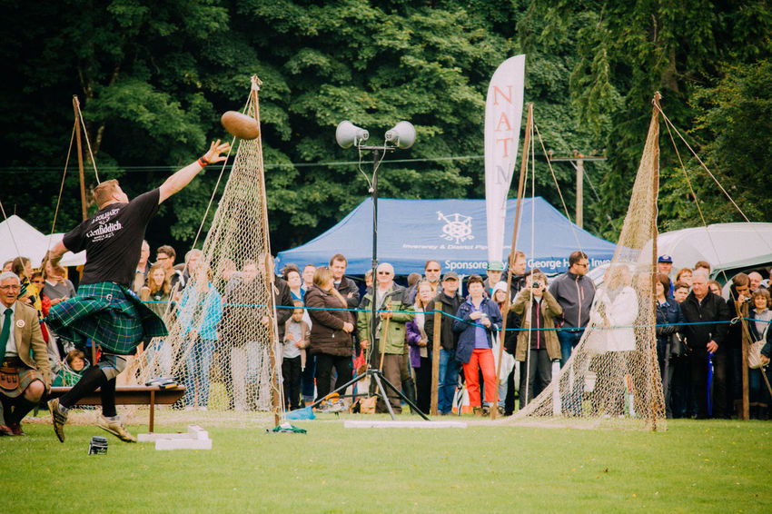 Cultures Day Highland Games Kilt Leisure Activity Lifestyles Men Real People Scotland Stone Put