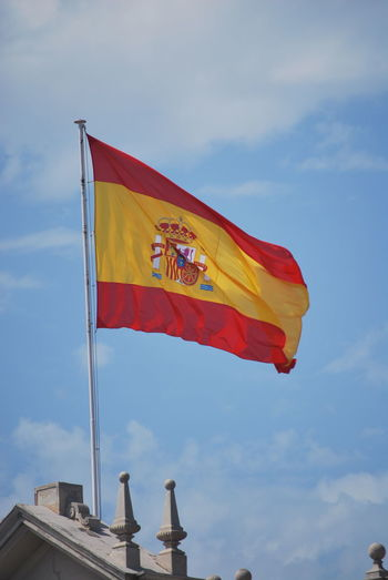 Barcelona Barcelona, Spain Catalonia Catalunya Cloud - Sky Day Flag Flags Flags In The Wind  Low Angle View No People Outdoors Patriotism Sky SPAIN