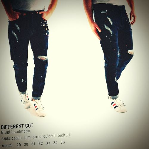 Blugi handmade Different Cut. Street Fashion Jeans Clothes Blue Jeans Bucharest Romania Check This Out Pants Casual Clothing Different Cut DifferentCut That's Me Made In Romania Photos Around You Men's Apparel Handmade Men Fashion Hand Made Fashionmen Custom Made Street Trance Techno House Street Wear