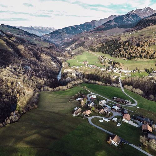 Surcasti from the air... Surcasti Aerial Photography Drone  First Eyeem Photo Graubünden Swissalps