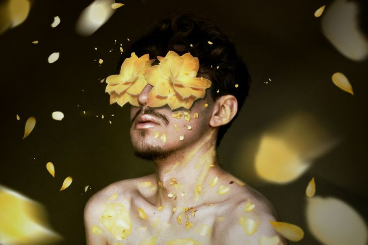 Yellow flowers blind me Beauty Flower Plant Young Adult One Person Yellow Yellow Flower Petals Petals Of Flowers Spring Manipulationphotography Graphic Design Boy Surrealism Surrealist Art Surreal Surrealism And Fantasy Art Fantasy Photography Fantasy Art Ink Yellow Color Yellow Background first eyeem photo