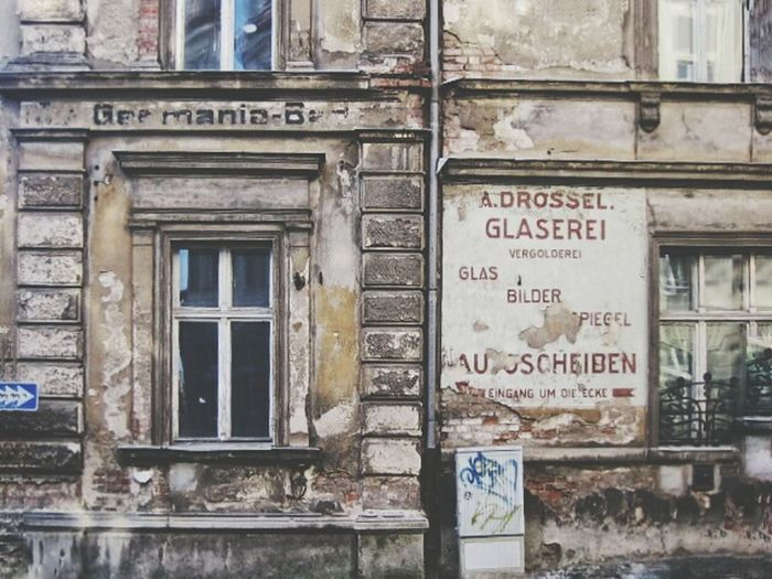 Information sign on building