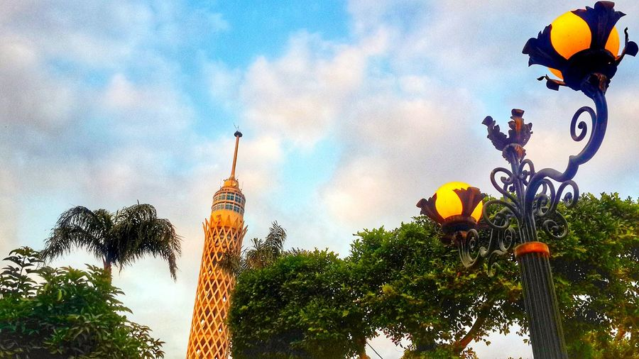 Egypt Cairo Al_Ahly Low Angle View Sky Tree Nature No People Outdoors Plant Beauty In Nature Cloud - Sky Day Lights Cairo_tower First Eyeem Photo Al_Ahly_FC