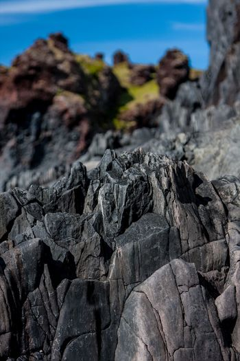 Arid Climate Backgrounds Balance Black Rose Close-up Cracked Day Djúpalónssandur Beach Full Frame Geology Iceland_collection Moss Natural Pattern No People Outdoors Physical Geography Rock Rock - Object Stone Stone - Object