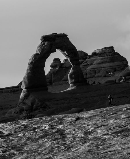 The other side Arches National Park, Utah USA Moab  Sky Land Nature Real People Rock - Object Rock Solid Leisure Activity One Person Rock Formation Beauty In Nature Arch Outdoors