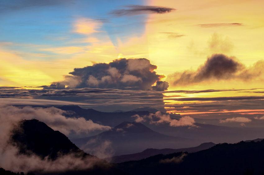 Beautiful sunrise Sunrise Sunrise And Clouds Sunrise Silhouette Travel Cloud - Sky Landscape Beauty In Nature Nature Travel Destinations Sky No People