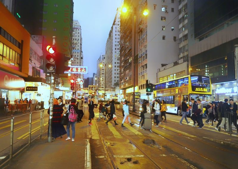 North Point Hongkong Large Group Of People City Life People Crowd Building Exterior An Eye For Travel Colour Your Horizn