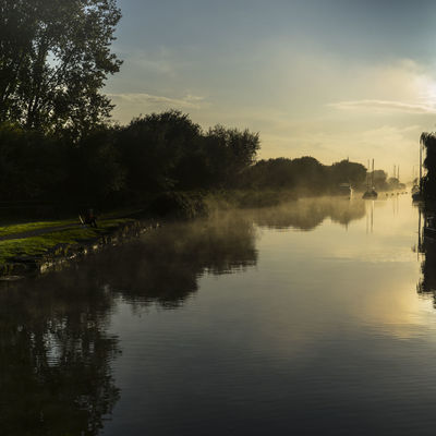Mist morning on the River Frome, Wareham, Dorset, UK Nature River Frome Water Reflections Beauty In Nature Day Early Morning Mist Misty Morning No People Outdoors Reflections River Tranquil Scene Tranquillity Trees And Sky Water