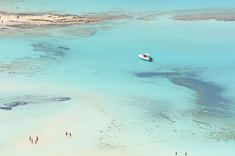 Landscape_Collection Vacations Day Greece High Angle View Land Landscape Landscape_photography Nautical Vessel Outdoors People Sand Scenics - Nature Sea Sea Life Seascape Summer Tranquil Scene Tranquility Trip Turquoise Colored Turquoise Water Vacations Water Water_collection
