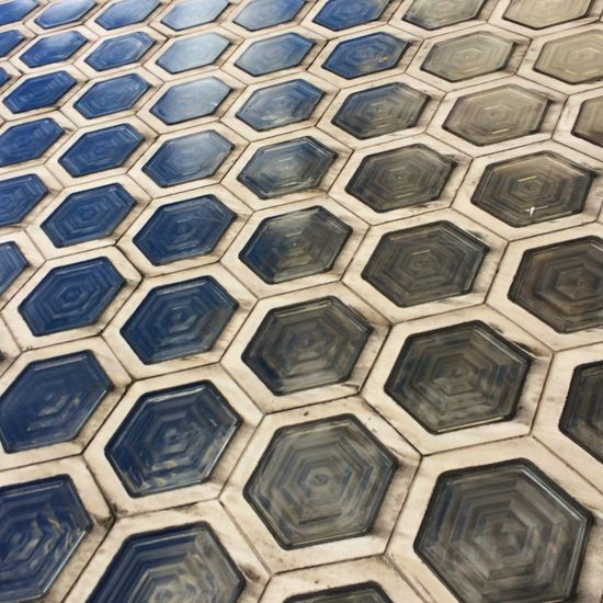 Floor Tile Pattern Glass Art