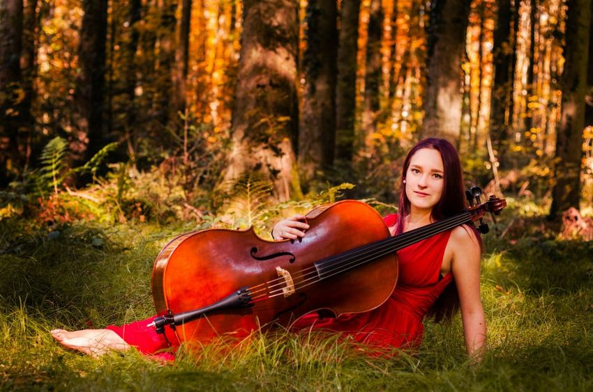 Sound of autum - with Jana// Autumn Autumn Colors Autumn Portrait Forest Autumn Forest Portrait Photoshoot Mood Focus On Foreground Lying Cello Music Musical Instrument EyeEm Best Shots EyeEm Best Edits EyeEm Nature Lover Eye4photography  Model Showcase: November The Magic Mission