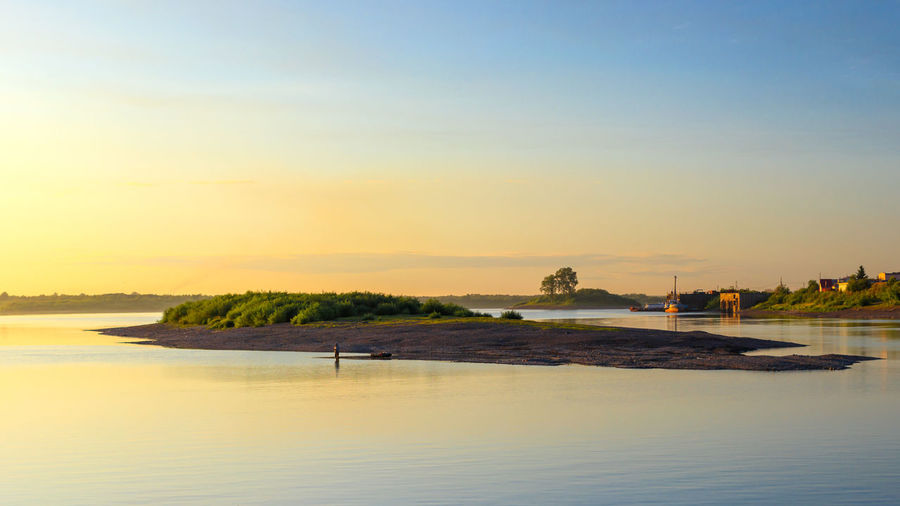 An island in the river Tom. River View Beach Idyllic Island Land Outdoors River Riverscape Siberia Sky Sunset Tranquil Scene Tranquility Water Waterfront