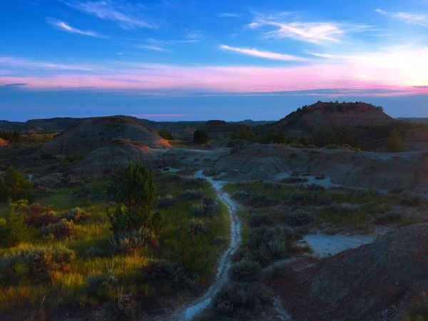 Morning in the Badlands Beauty In Nature Nature Sky Scenics Sunrise No People Landscape Peaceful Eden Colorful Trail Hiking North Dakota Theodore Roosevelt National Park EyeEmNewHere