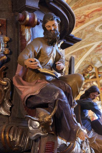 Saint Luke the Evangelist Ancient Antique Belief Bible Christianity Church Croatia Europe Evangelist Faith Gospel Historic Holy Hope Luke Patron Pray Pulpit Religion Religious  Saint Shrine Spiritual Spirituality Worship