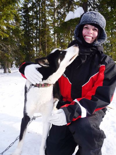 Adventure Buddies Woman with husky, Finland Husky ♡ Huskyphotography Huskies Husky Love Bestfriend Travel Photography Traveling Kuusamo Woman Woman Portrait Woman Power Winter Wonderland Wintertime Misshappiness Feel The Journey Original Experiences On The Way Snow Sports Snow Sport Miles Away Women Around The World Women Of EyeEm