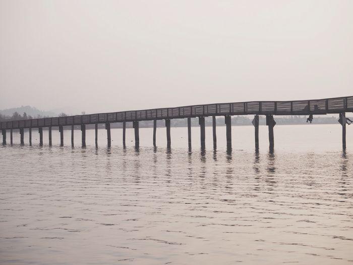 Pier in sea