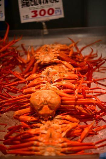 蟹天国。 Crab Food And Drink Food Freshness Crustacean Seafood Indoors  No People Red Close-up Healthy Eating Selective Focus Raw Food For Sale Orange Color Large Group Of Objects
