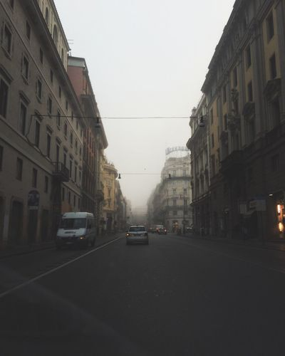 Foggy Morning 🌬 In Rome On The Streets Strange Clouds