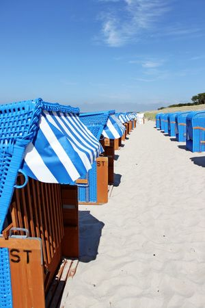 Absence Arrangement Baltic Sea Beach Chairs Beach Umbrella Beachchair Blue Cloud Empty Graal-Müritz Horizon Over Water In A Row Multi Colored Nature Outdoors Parasol Repetition Sand Shade Sky Sunlight Sunny The Way Forward Tranquil Scene Tranquility